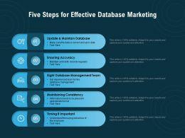 Five Steps For Effective Database Marketing