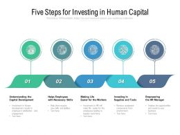 Five Steps For Investing In Human Capital