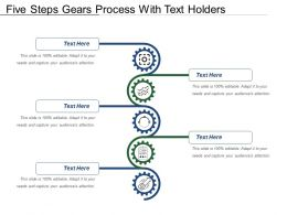 Five Steps Gears Process With Text Holders