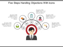 Five Steps Handling Objections With Icons