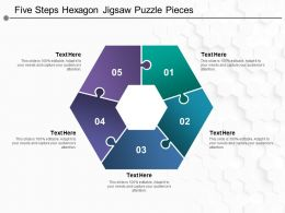 Five Steps Hexagon Jigsaw Puzzle Pieces