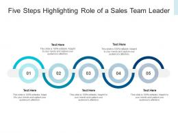 Five Steps Highlighting Role Of A Sales Team Leader Infographic Template
