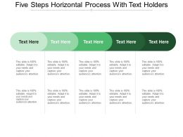 Five Steps Horizontal Process With Text Holders