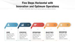 Five Steps Horizontal With Innovation And Optimum Operations