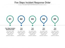 Five Steps Incident Response Order Ppt Powerpoint Presentation Infographic Template Cpb