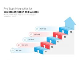 Five Steps Infographics For Business Direction And Success