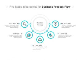 Five Steps Infographics For Business Process Flow
