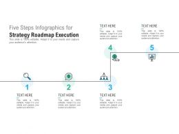 Five Steps Infographics For Strategy Roadmap Execution