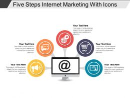 Five Steps Internet Marketing With Icons