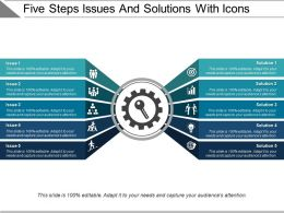 Five Steps Issues And Solutions With Icons