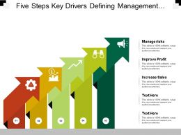 Five Steps Key Drivers Defining Management Risks Improve Profit And Increase Sales