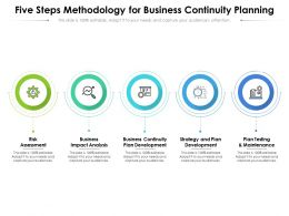 Five Steps Methodology For Business Continuity Planning