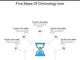 Five Steps Of Chronology Icon