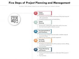 Five Steps Of Project Planning And Management