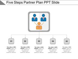 Five Steps Partner Plan Ppt Slide
