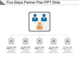 Five Steps Partner Plan Ppt Slide