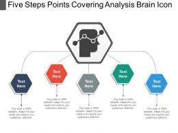 Five Steps Points Covering Analysis Brain Icon