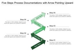 Five Steps Process Documentations With Arrow Pointing Upward