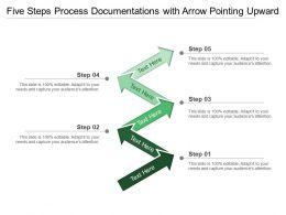 Five Steps Process Documentations With Arrow Pointing Upward