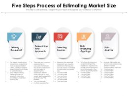 Five Steps Process Of Estimating Market Size