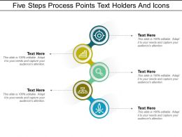 Five Steps Process Points Text Holders And Icons