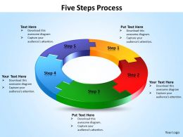 Five Steps Process powerpoint Slides templates