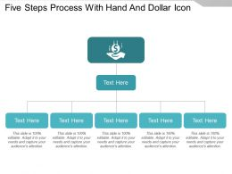 Five Steps Process With Hand And Dollar Icon
