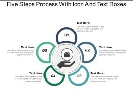 Five Steps Process With Icon And Text Boxes