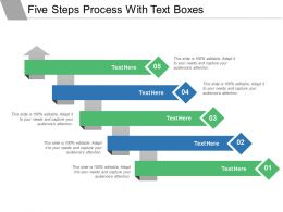Five Steps Process With Text Boxes