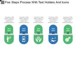 Five Steps Process With Text Holders And Icons