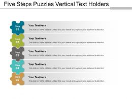 Five Steps Puzzles Vertical Text Holders