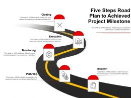 Five Steps Road Plan To Achieved Project Milestone