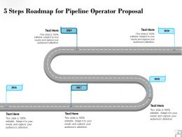 Five Steps Roadmap For Pipeline Operator Proposal Ppt Powerpoint Presentation Samples