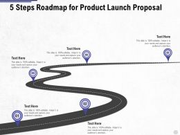 Five Steps Roadmap For Product Launch Proposal Ppt Powerpoint Presentation Visual Infographics