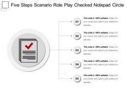 Five Steps Scenario Role Play Checked Notepad Circle