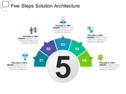Five Steps Solution Architecture Presentation Ideas