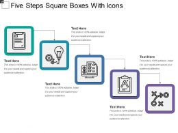 Five Steps Square Boxes With Icons