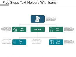 Five Steps Text Holders With Icons