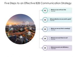 Five Steps To An Effective B2B Communication Strategy