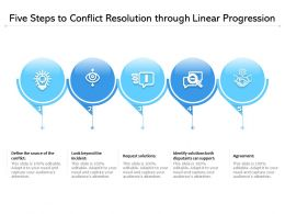 Five Steps To Conflict Resolution Through Linear Progression