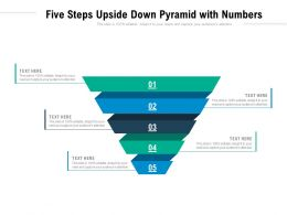 Five Steps Upside Down Pyramid With Numbers