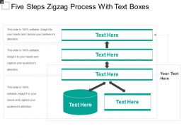 Five Steps Zigzag Process With Text Boxes