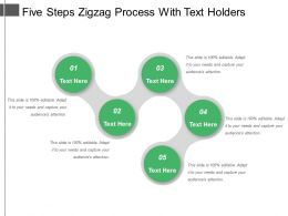 Five Steps Zigzag Process With Text Holders