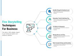 Five Storytelling Techniques For Business