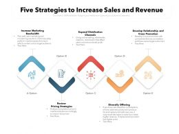 Five Strategies To Increase Sales And Revenue
