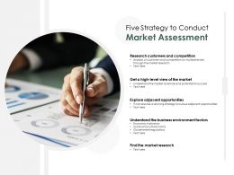 Five Strategy To Conduct Market Assessment