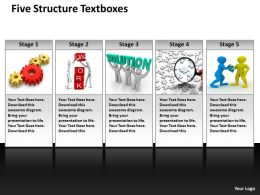 five structure textboxes powerpoint diagram templates graphics 712