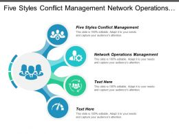Five Styles Conflict Management Network Operations Management Management Reputation Cpb