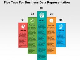 five_tags_for_business_data_representation_flat_powerpoint_design_Slide01