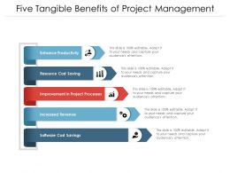Five Tangible Benefits Of Project Management